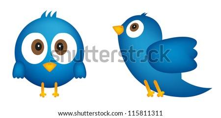 Cartoon of blue bird