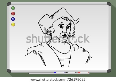 cartoon of christopher columbus