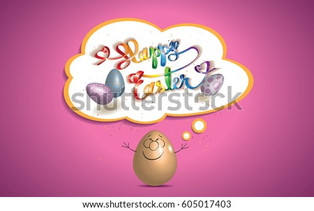 cartoon of easter egg with