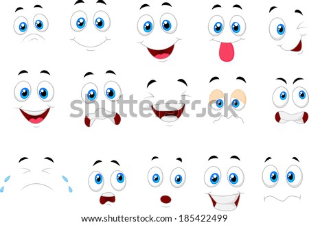 cartoon of various face