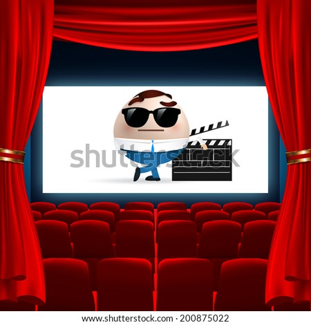 Cartoon On Cinema Screen Stock Vector 200875022 : Shutterstock
