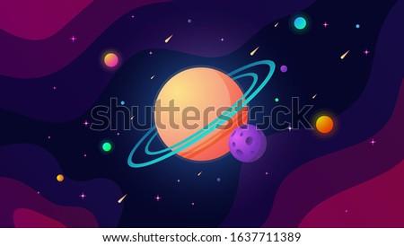 cartoon outer space vector a