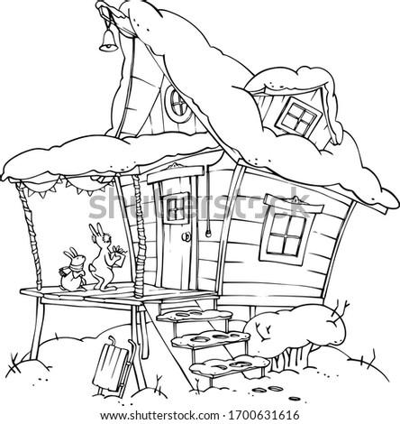 cartoon outline fairytale