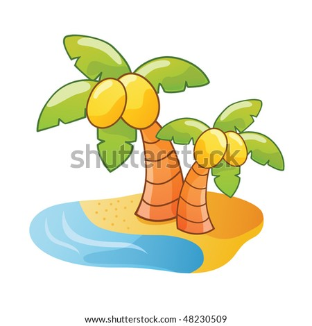(Cartoon Palm Tree Vector