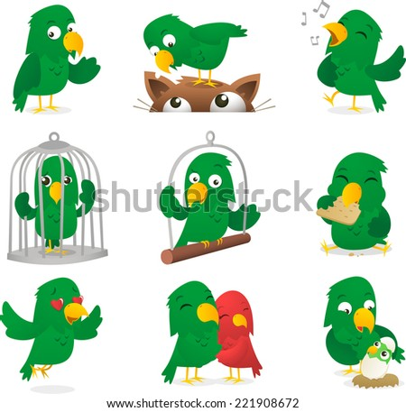 cartoon parrot collection