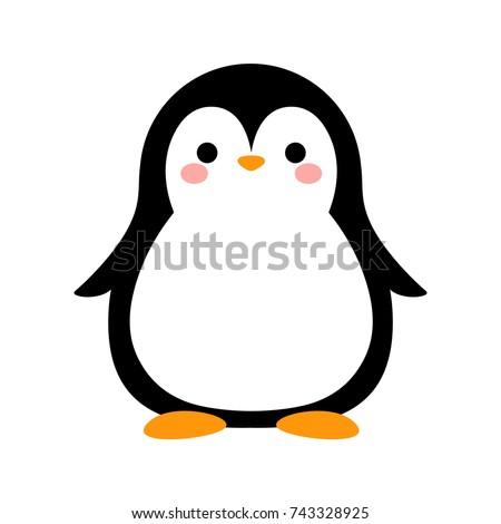 Cartoon Penguin Icon, Vector illustration