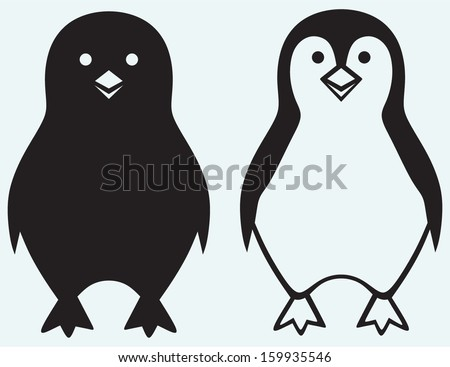 cartoon penguin isolated on