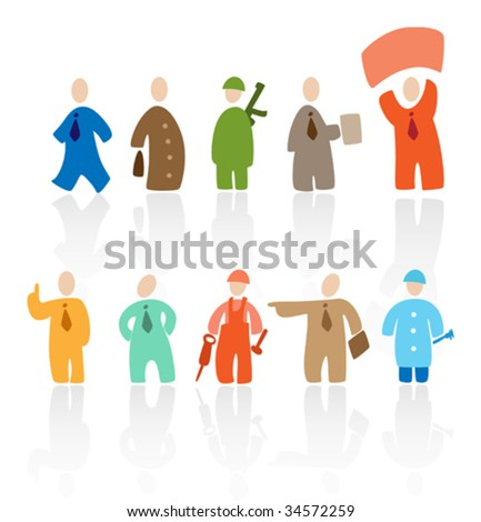 Cartoon people: professions. Vector illustration