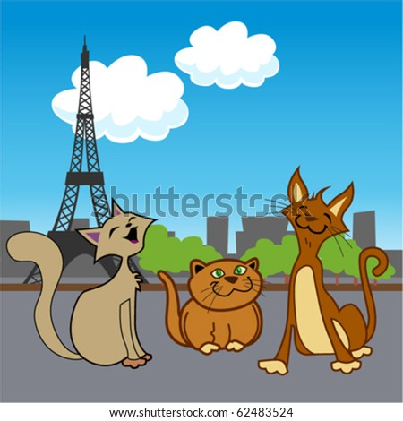cartoon pets in paris