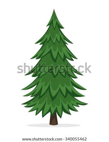 Cartoon pine tree stock vector illustration 340055462 shutterstock