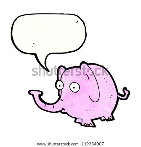 cartoon pink elephant