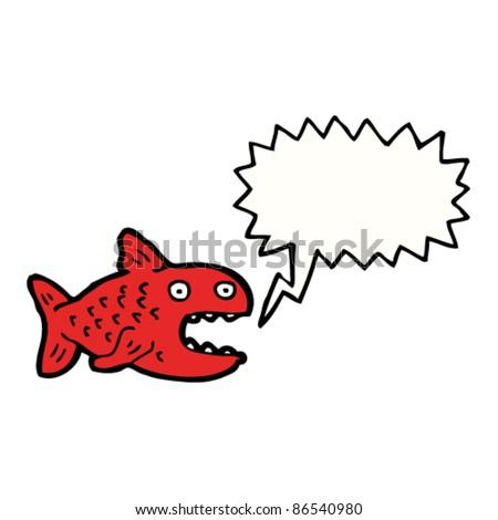 cartoon piranha shouting