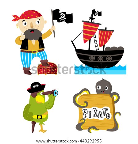 cartoon pirate character with