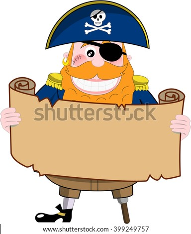 cartoon pirate looking at