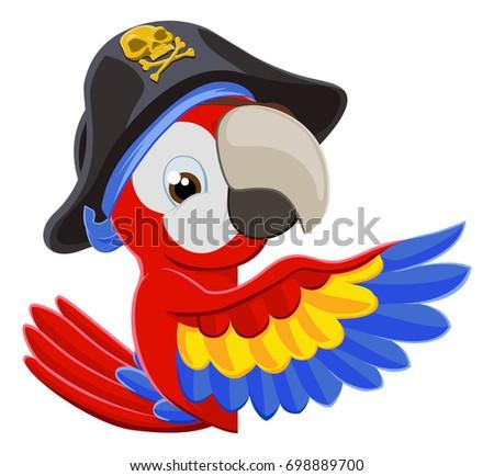 cartoon pirate parrot bird