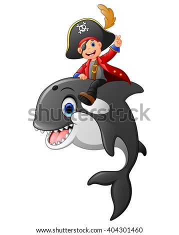 cartoon pirate ride whale