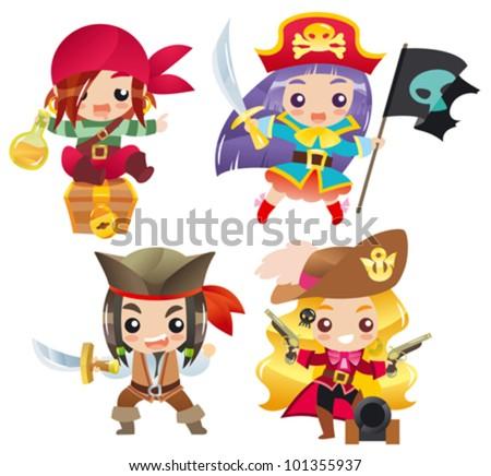 cartoon pirates set 1