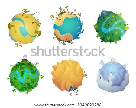 cartoon planet earth