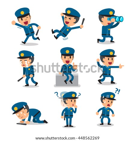 cartoon policeman character