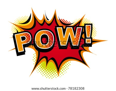 cartoon pow vector