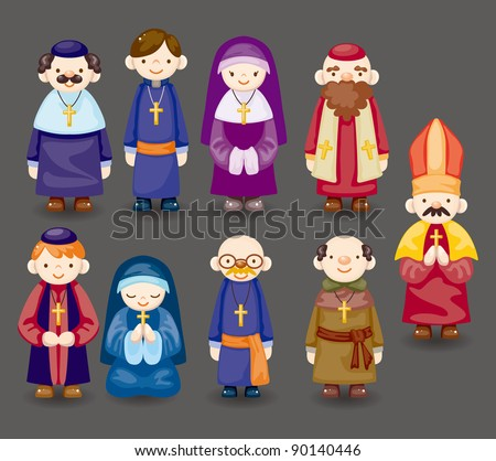 cartoon priest icon
