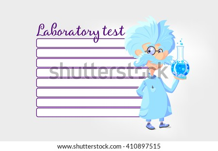cartoon professor laboratory