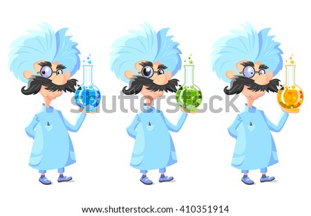 cartoon professor with glass