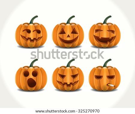 Cartoon pumpkins set download free vector art stock graphics cartoon pumpkins characters thecheapjerseys Choice Image