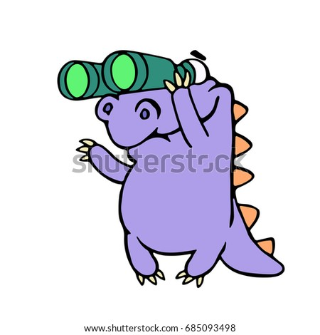 cartoon purple croc looking