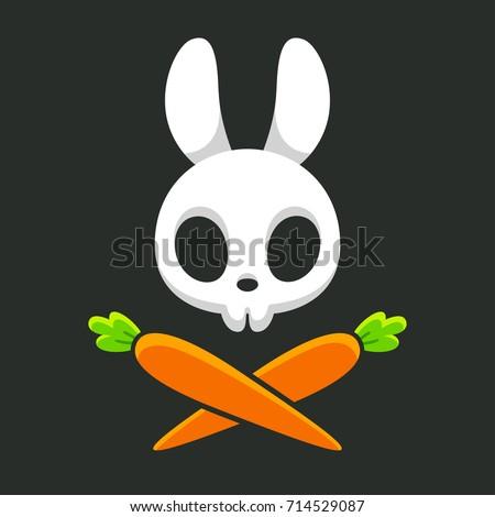 cartoon rabbit skull with