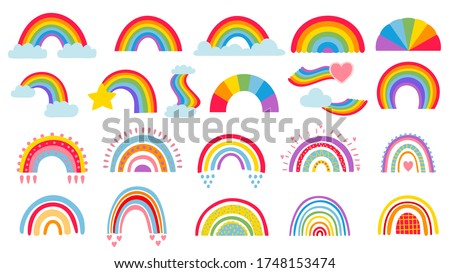 cartoon rainbow colourful