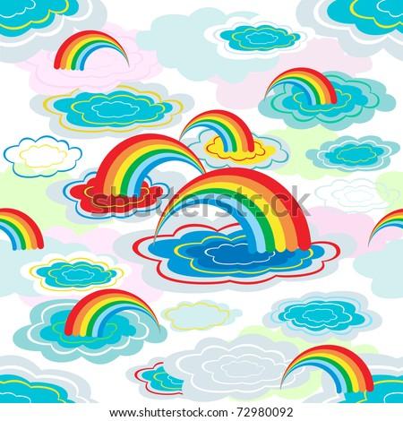 Cartoon rainbow pattern