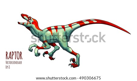 cartoon raptor vector