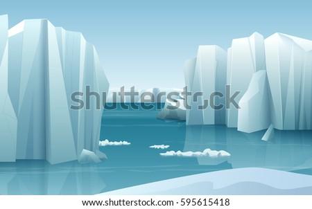 cartoon realistic nature winter