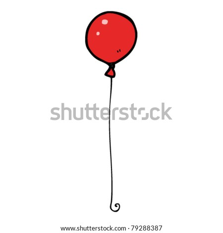 cartoon red balloon