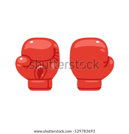 cartoon red boxing glove icon