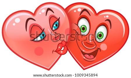 Valentine Emoji And Sticker Download Free Vector Art Stock
