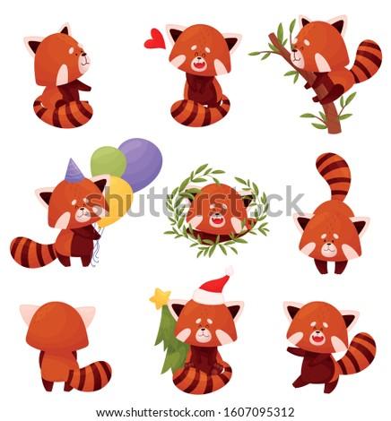 cartoon red panda character
