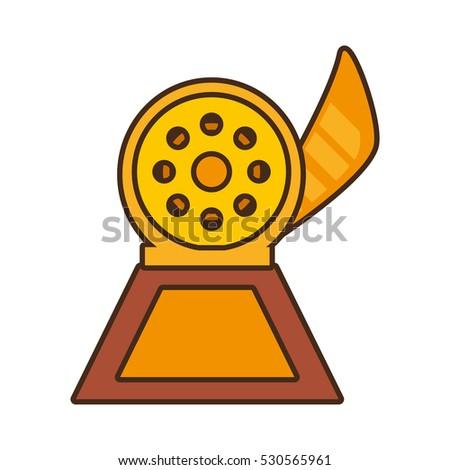 cartoon reel movie trophy