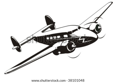 Cartoon retro airplane. More vector airplanes see in my portfolio