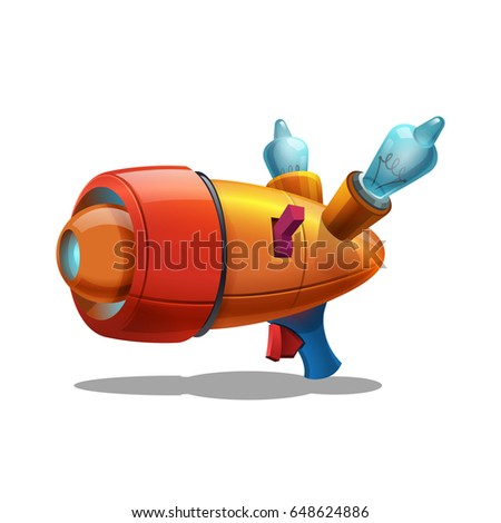 cartoon retro space blaster
