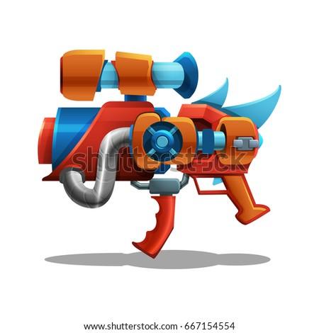 cartoon retro space blaster