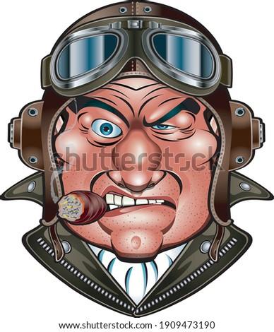 cartoon retro style fighter