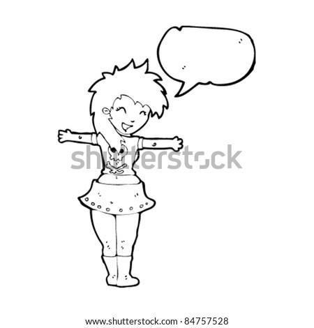 cartoon rock girl