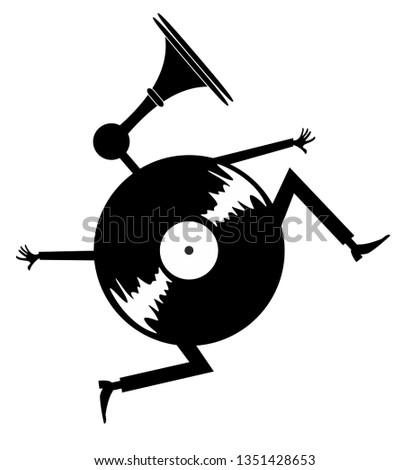 cartoon running vinyl
