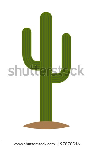cartoon saguaro cactus on