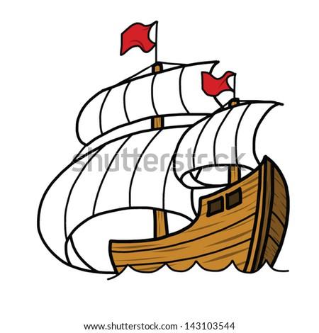 Sailing Ship Cartoon Cartoon Sailing Ship