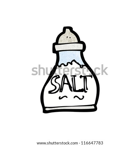 cartoon salt pot