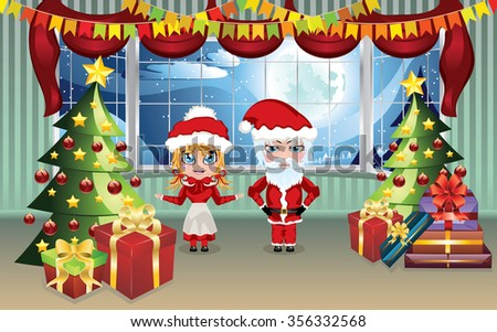 http://www.shutterstock.com/pic-356332568/stock-vector-cartoon-santa-and-mrs-claus-in-the-living-room-decorated-for-christmas.html?src=pUilwcHH6-SYeOex-zsH3w-1-10