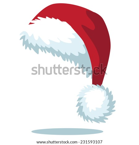 Cartoon Santa hat isolated on white EPS 10 vector